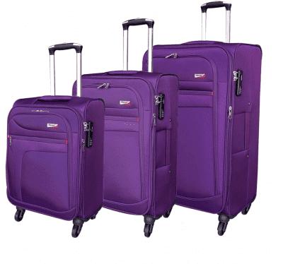 סט שלישיית מזוודות בד מאסיבי Verage Pitango 5
