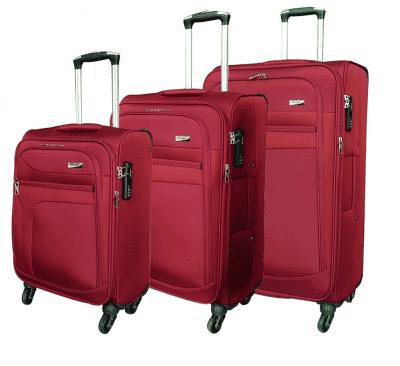 סט שלישיית מזוודות בד מאסיבי Verage Pitango 6