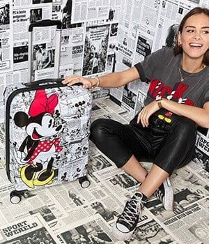 מזוודה קשיחה דיסני American Tourister Disney Comics Mickey/Minnie 16