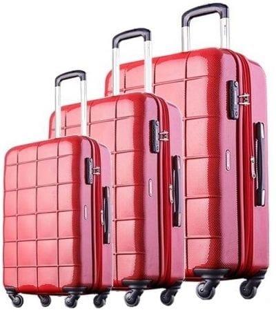 סט שלישיית מזוודות קשיחות Echolac Square 8