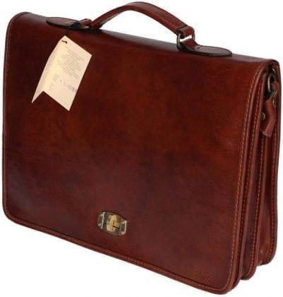 תיק עסקים מעור איטלקי Old Angler 184 1