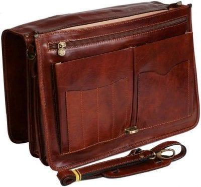 תיק עסקים מעור איטלקי Old Angler 184 4