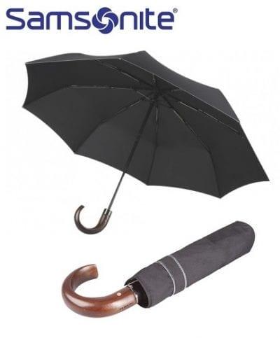 מטריה מתקפלת איכותית סמסונייט Samsonite Wood Classic 19