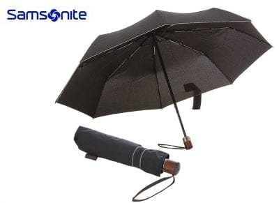 מטריה מתקפלת איכותית סמסונייט Samsonite Wood Classic 1