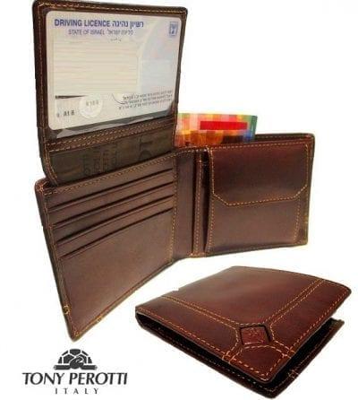 ארנק עור איטלקי גדול טוני פרוטי Tony Perotti 10901 1