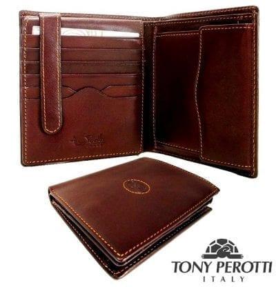 ארנק עור איטלקי גדול טוני פרוטי Tony Perotti 20507 1