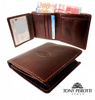 ארנק עור איטלקי גדול טוני פרוטי Tony Perotti 20527 1