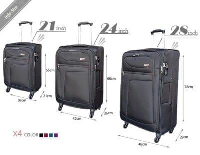 סט שלישיית מזוודות בד מאסיבי Verage Pitango 4
