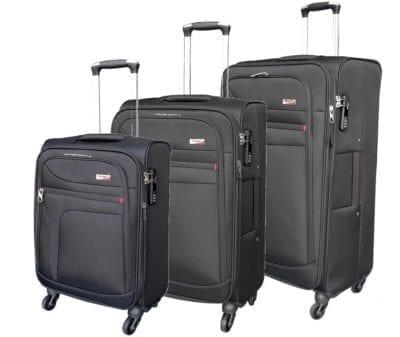 סט שלישיית מזוודות בד מאסיבי Verage Pitango 2