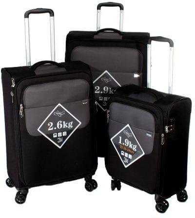 סט שלישיית מזוודות קלות Verage Lite Cross 25