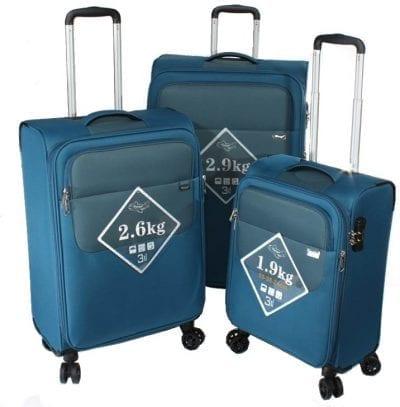 סט שלישיית מזוודות קלות Verage Lite Cross 27