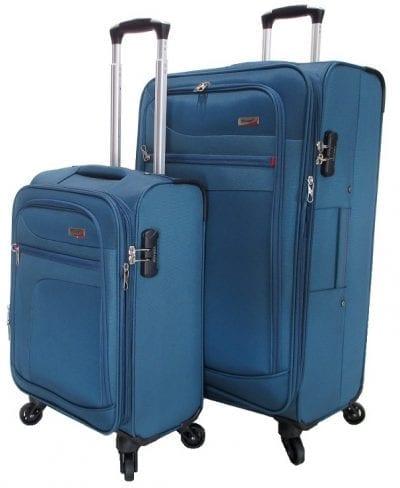 סט זוג מזוודות בד מאסיבי Verage Pitango 6