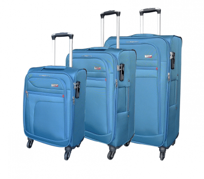 סט שלישיית מזוודות בד מאסיבי Verage Pitango 11