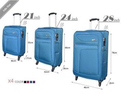 סט שלישיית מזוודות בד מאסיבי Verage Pitango 12