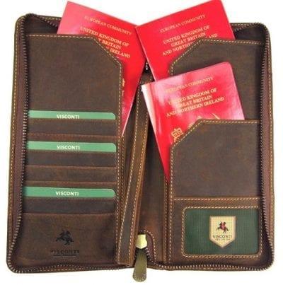 ארנק עור לדרכון ונסיעות ויסקונטי Visconti Travel 10