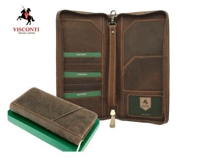 ארנק עור לדרכון ונסיעות ויסקונטי Visconti Travel 1