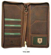 ארנק עור לדרכון ונסיעות ויסקונטי Visconti Travel 2