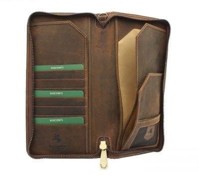 ארנק עור לדרכון ונסיעות ויסקונטי Visconti Travel 8