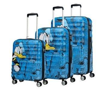 סט שלישיית מזוודות קשיחות דיסני American Tourister Disney Comics Donald Duck 3