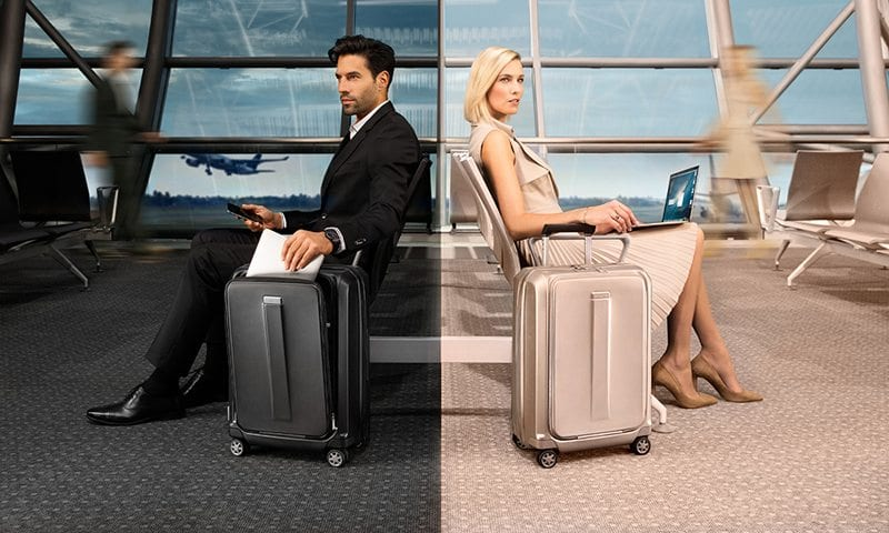 מזוודה קשיחה לעלייה למטוס עם תא למחשב Samsonite Prodigy 9