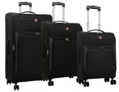 סט מזוודות בד סוויס Swiss Travel 2
