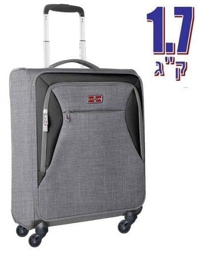 מזוודה לעליה למטוס קלת משקל Marco Polo piper אפור