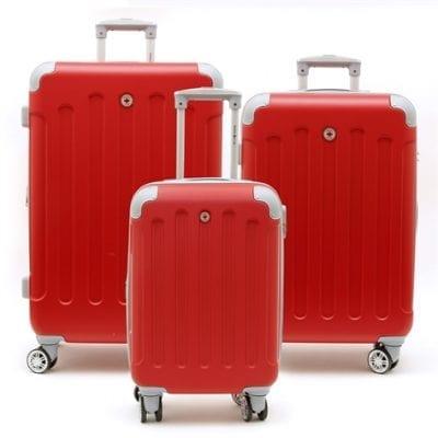 סט שלישיית מזוודות קשיחות Swiss Travel Club אדום 2