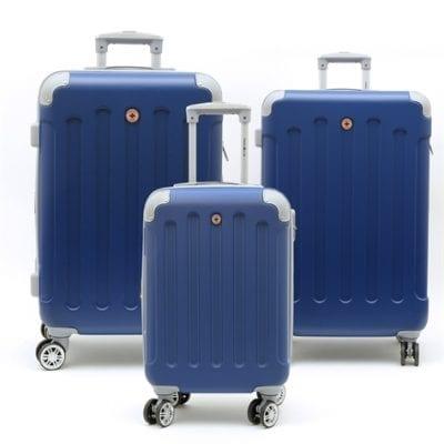 סט שלישיית מזוודות קשיחות Swiss Travel Club כחול 2