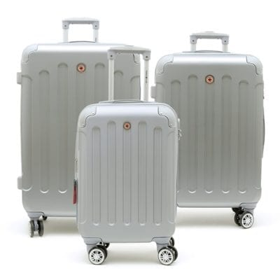 סט שלישיית מזוודות קשיחות Swiss Travel Club אפור 2