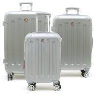 סט שלישיית מזוודות קשיחות Swiss Travel Club אפור