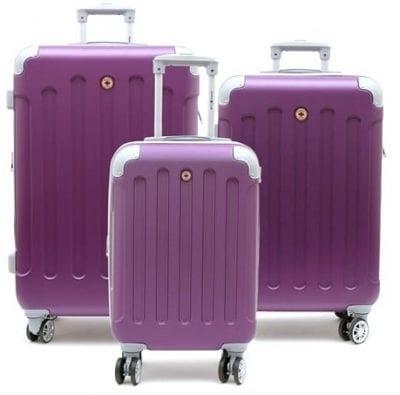 סט שלישיית מזוודות קשיחות Swiss Travel Club סגול