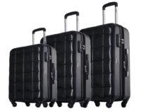 סט שלישיית מזוודות קשיחות Echolac Square 4