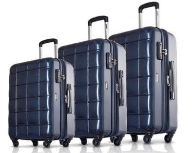 סט שלישיית מזוודות קשיחות Echolac Square 3