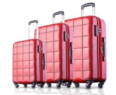 סט שלישיית מזוודות קשיחות Echolac Square 2