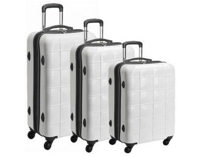 סט שלישיית מזוודות קשיחות Echolac Square 1