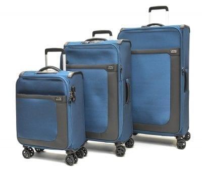 סט שלישיית מזוודות בד שלזינגר Slazenger Washington 1