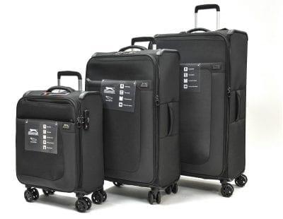 סט שלישיית מזוודות בד שלזינגר Slazenger Washington 2