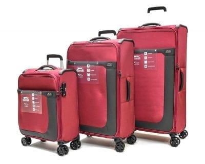 סט שלישיית מזוודות בד שלזינגר Slazenger Washington 3