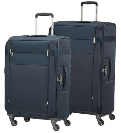 סט צמד מזוודות בד קלות סמסונייט Samsonite CityBeat 10