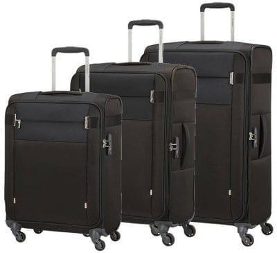סט שלישיית מזוודות בד קלות סמסונייט Samsonite CityBeat 4