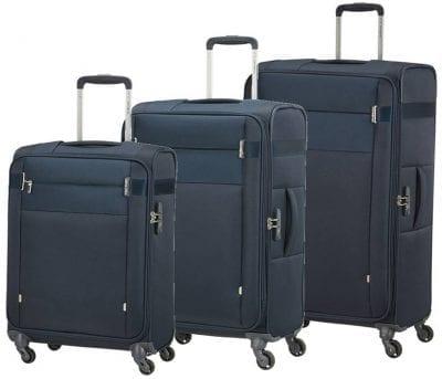 סט שלישיית מזוודות בד קלות סמסונייט Samsonite CityBeat 2