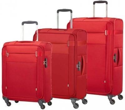 סט שלישיית מזוודות בד קלות סמסונייט Samsonite CityBeat 1