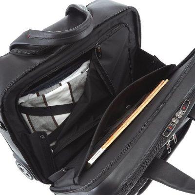 Samsonite Pro-Dlx leather rolling tote 3